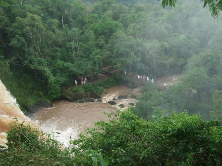 Iguazu vu d'en haut, côté Argentin
