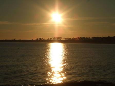 Coucher de soleil en Uruguay